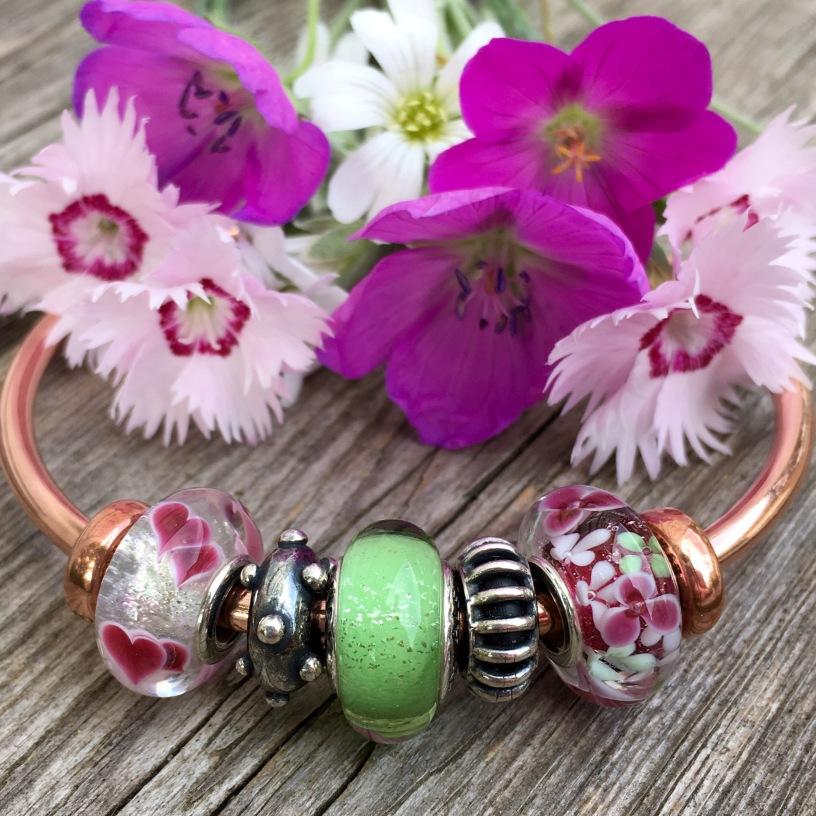 Garden Charms: Pandora Flower Garden Murano