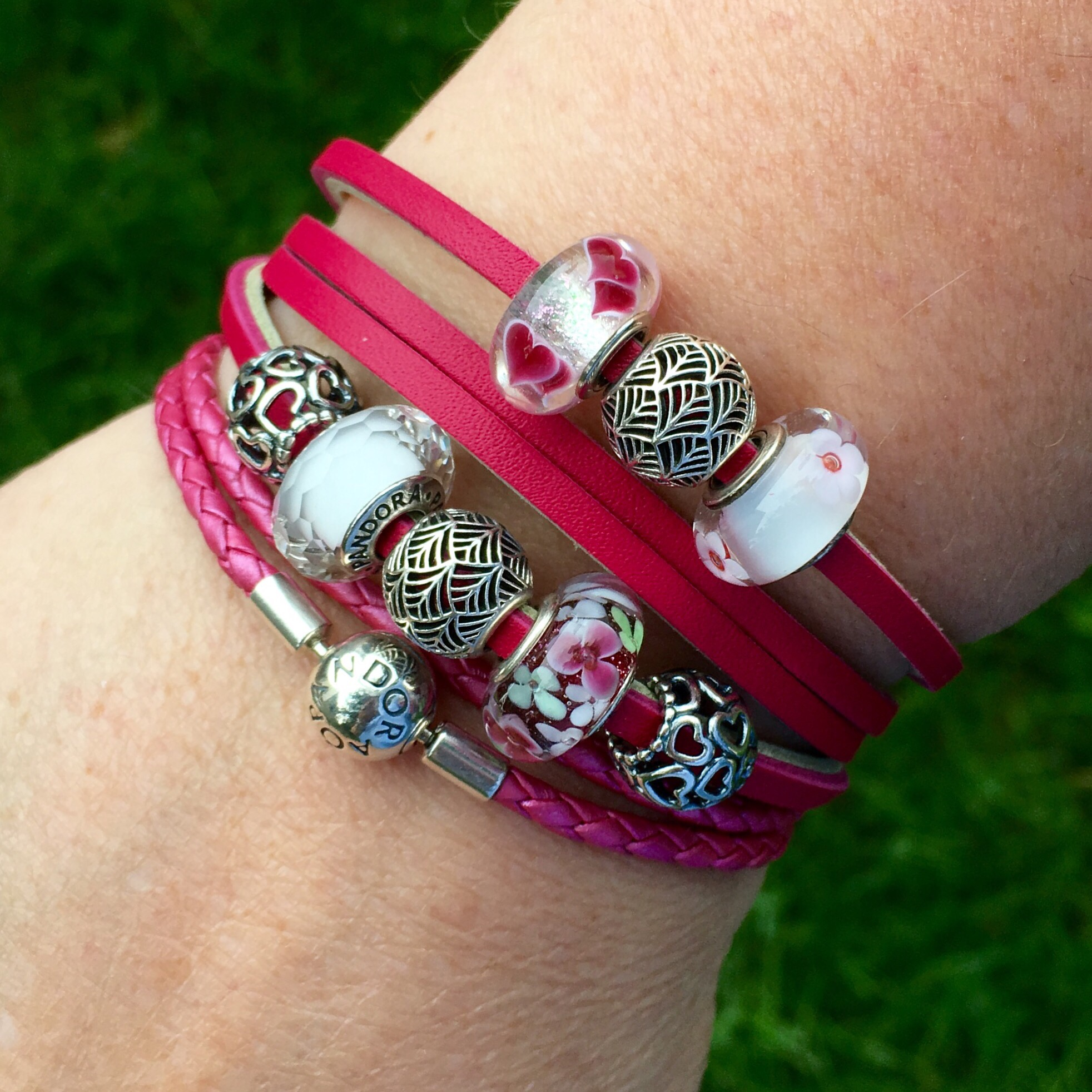 Lastly, I've Put It With The Pandora Honeysuckle Pink Leather Bracelet So  People Who Have That Can Get A Colourparison It's Not A Perfect Match,